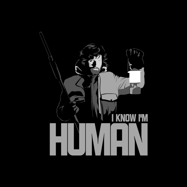 camiseta tshirt human la cosa kurt russell