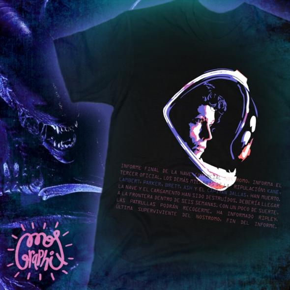 camiseta tshirt alien ripley